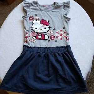 Hello Kitty Sporty Dress in T-Shirt Cotton